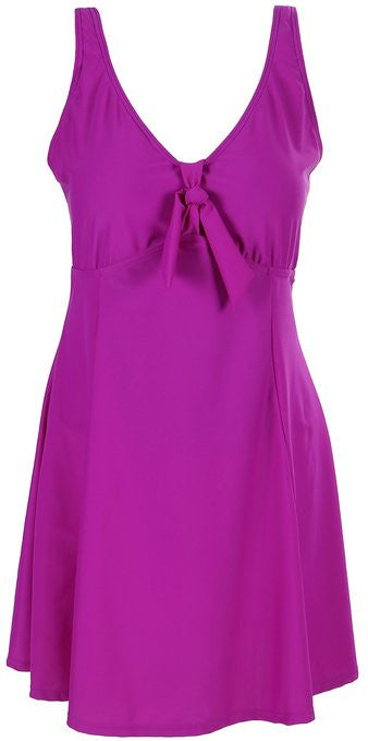 Lovely Plus Fuchsia Disco One Piece Swim Dress