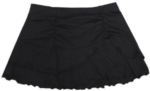 Black Asymmetric Layered Skirt Cover Up