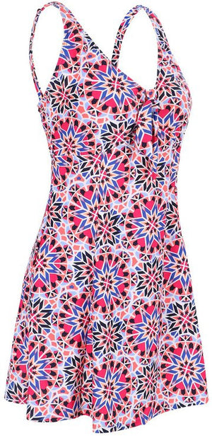 Lovely Plus Geo Bloom One Piece Swim Dress
