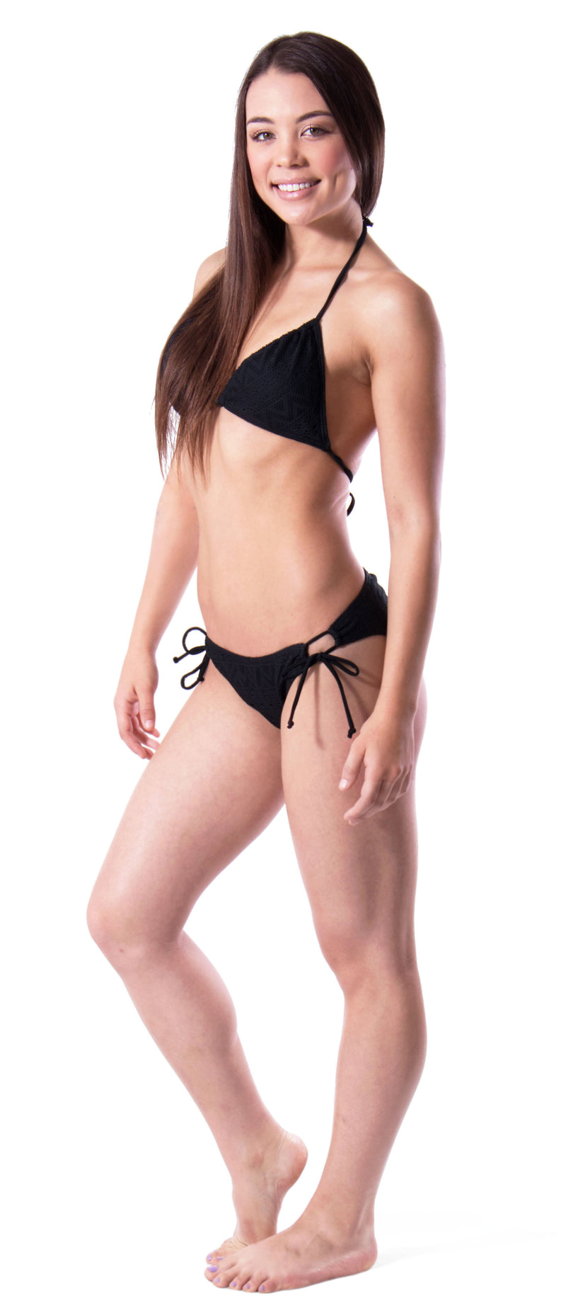 Tribal Mesh Triangle Bikini Set