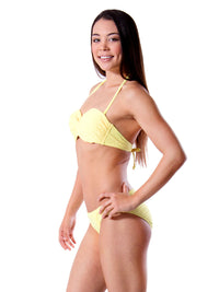 Tropic Sunrise Mesh Bandeau Bikini Set