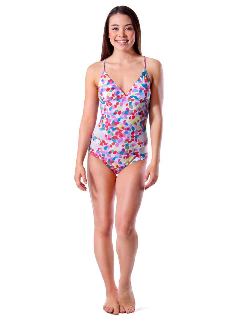 Festive Splash Crossback One Piece