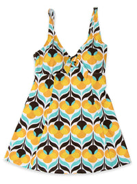Lovely Plus Floral Burst One Piece Swim Dress