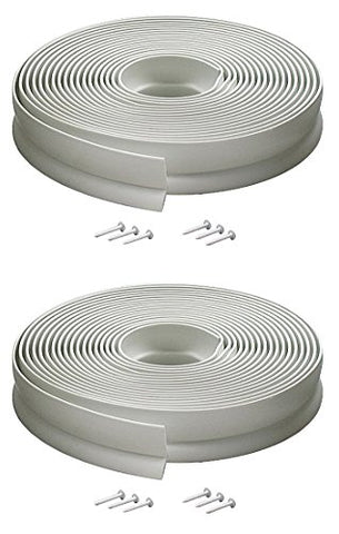 M-D Building Products 3822 Vinyl Garage Door Top and Sides Seal, 30 Feet, White (2 PACK)