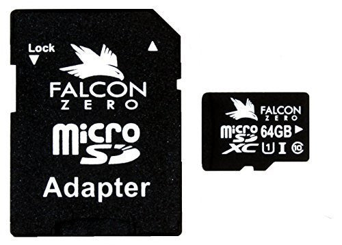 Falcon Zero 64GB Class 10 UHS-1 SDXC Memory Card for Dash Cameras