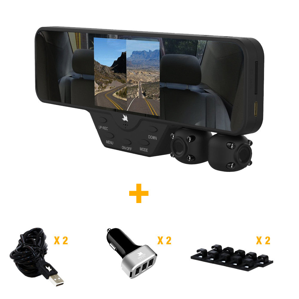FALCON ZERO F360 V1 DASH CAM BUNDLE WITH TWO VEHICLE ACCESSORIES
