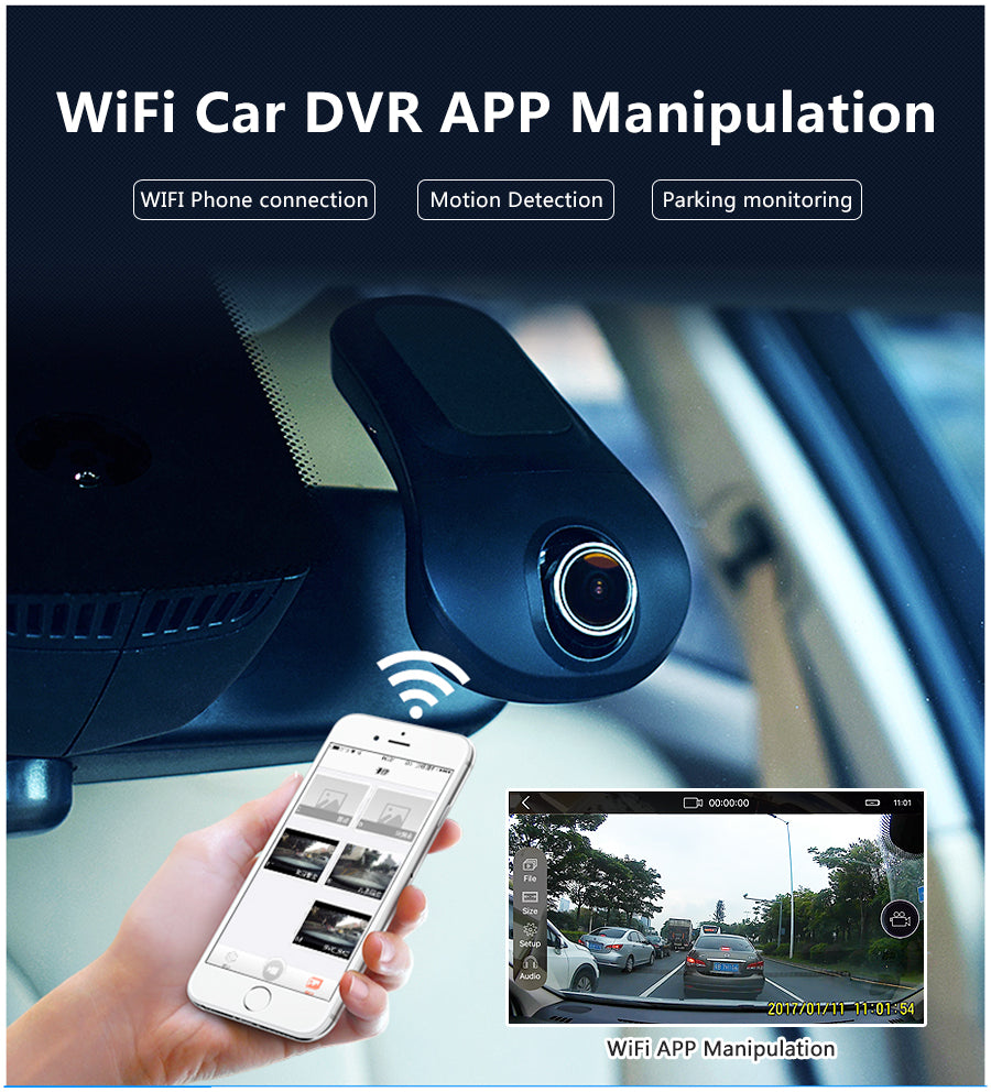 Junsun Car DVR Camera Video Recorder Wireless WiFi APP Manipulation FHD 1080p Novatek 96655 dvrs Dash Cam Registrator