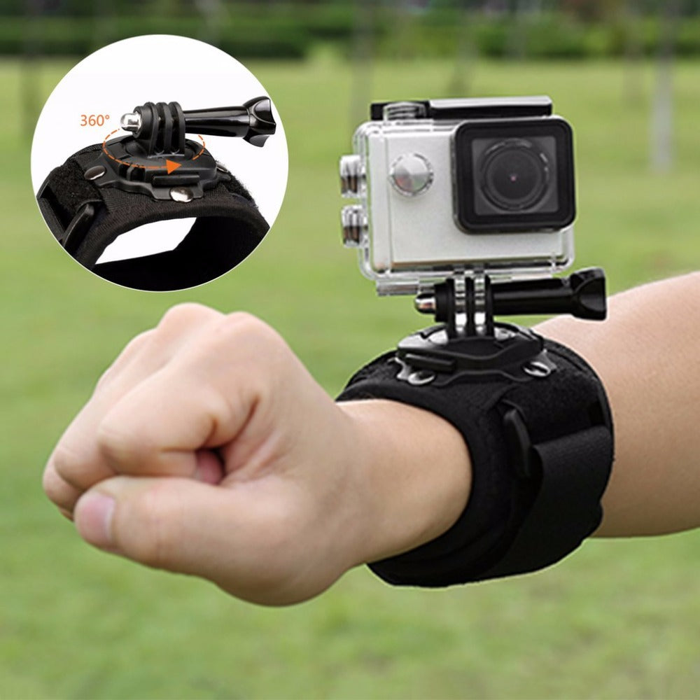 ThiEYE 360-degree Rotating Wrist Strap Adjustable Elastic Band Hand Mount With Thumb Screw Holder For Sport Action Cameras