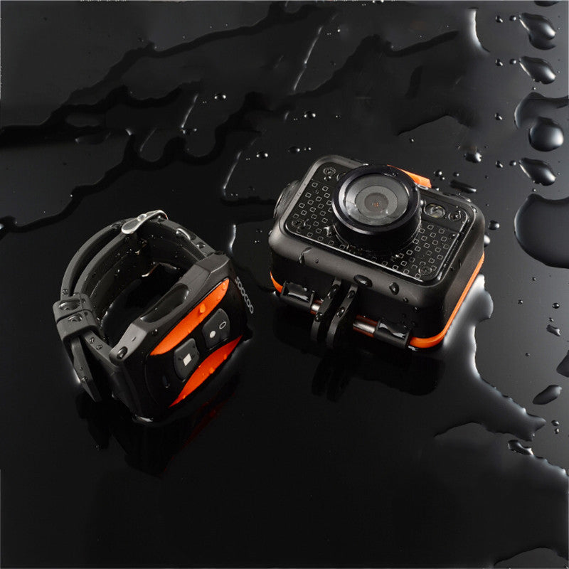 S60 Wifi Action Video Camera 1080P FHD Diving 60M Bare Waterproof Mini DV Sports Camcorder+Remote Control Watch