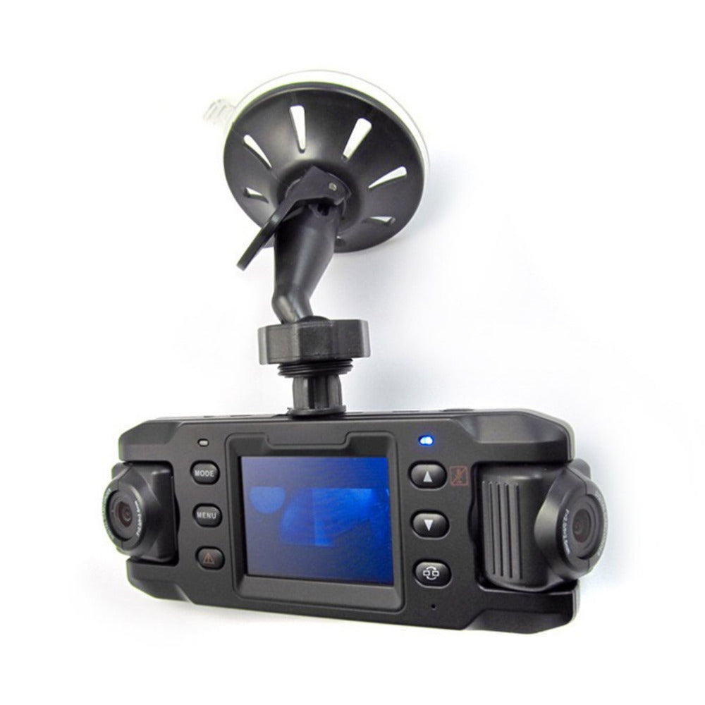 2.31 Inch Display Dual Lens Car DVR Camera Video Recorder Dash Cam Support Infrared Night Vision