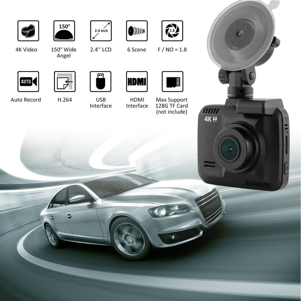 "GS63H WiFi Car DVR Recorder Dash Cam 2.4"" Novatek 96660 Camera Built in GPS Camcorder 4K 2880x2160P Night Vision G-sensor"