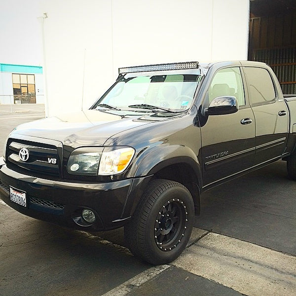 """2000 - 2006 Toyota Tundra Double Cab 50"""" Curved LED Light Bar Roof Mou – GGLighting"""