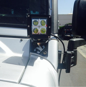 1997 - 2006 Jeep LJ & TJ LED Pod Pillar Mounts