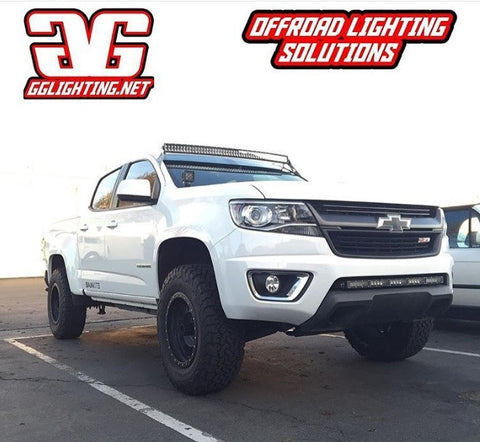 "2014+ Chevy Colorado 50"" Curved LED Bar Roof Mounts"