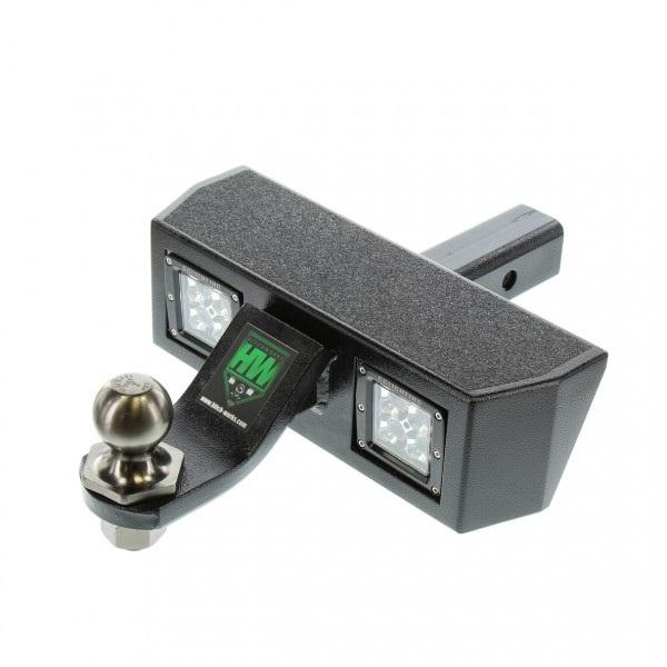 Hitch Works Trailer Hitch Step With LED Lighting