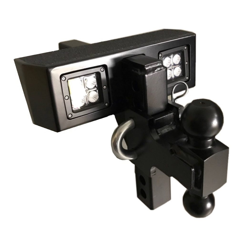 Hitch Works Lighted DUAL BALL Adjustable Hitch