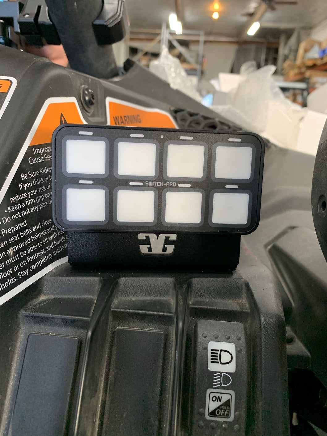 Can-Am X3 Switch Pros Dash Mount