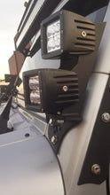 Load image into Gallery viewer, 2007 - 2018 Jeep Wrangler JK LED Pod Pillar Mounts