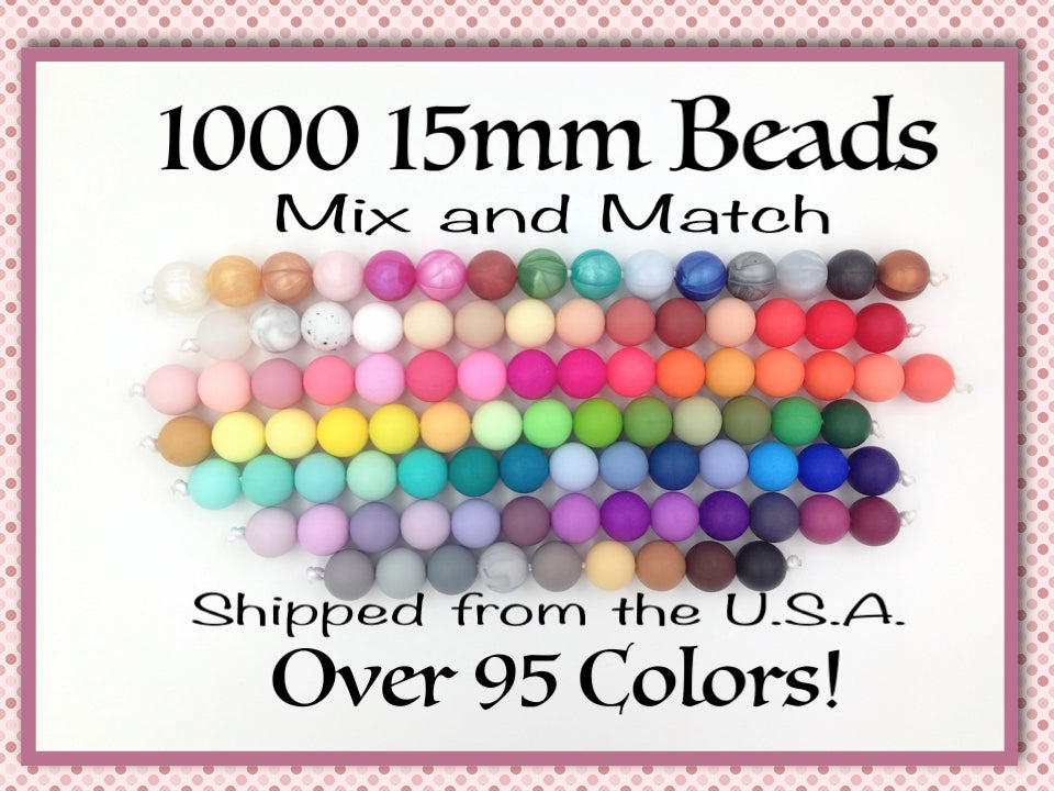 15mm Bulk Silicone Beads--1000