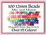 12mm Bulk Silicone Beads--100