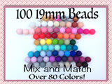 19mm Bulk Silicone Beads--100