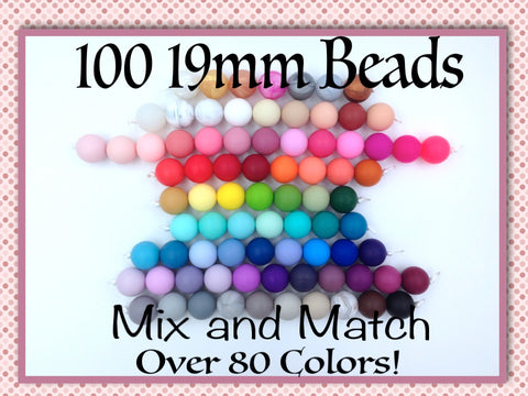 19mm Bulk Silicone Beads--50