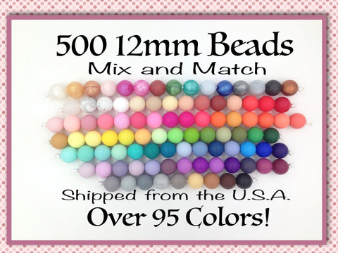 12mm Bulk Silicone Beads--500