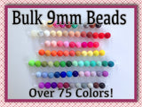 9mm Bulk Silicone Beads--50