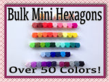 Mini Hexagon 14mm Bulk Silicone Beads--100