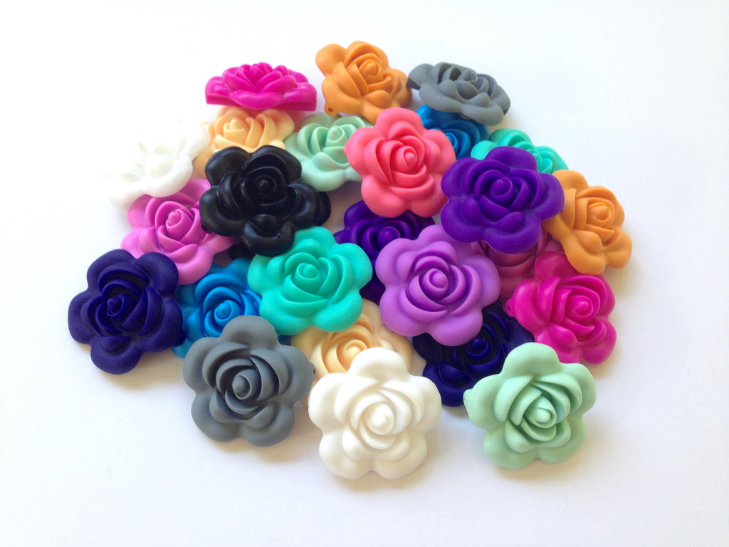 Silicone Flower Beads--25