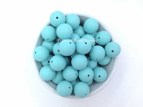 19mm Cool Caribbean Silicone Beads