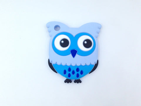 Shades of Blue Owl Silicone Teether