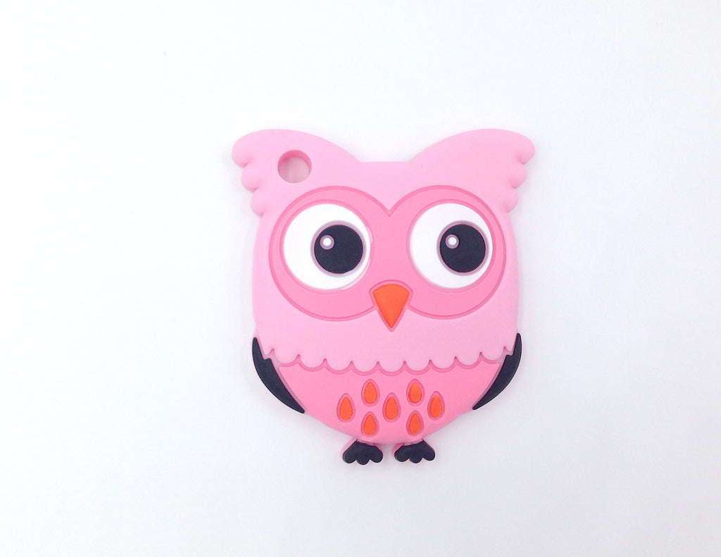 Shades of Pink Owl Silicone Teether