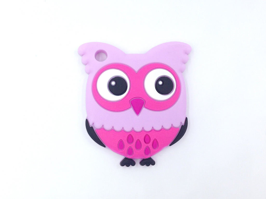 Shades of Purple Owl Silicone Teether