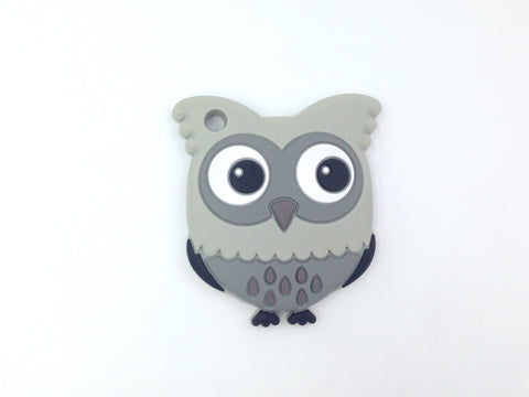 Shades of Gray Owl Silicone Teether