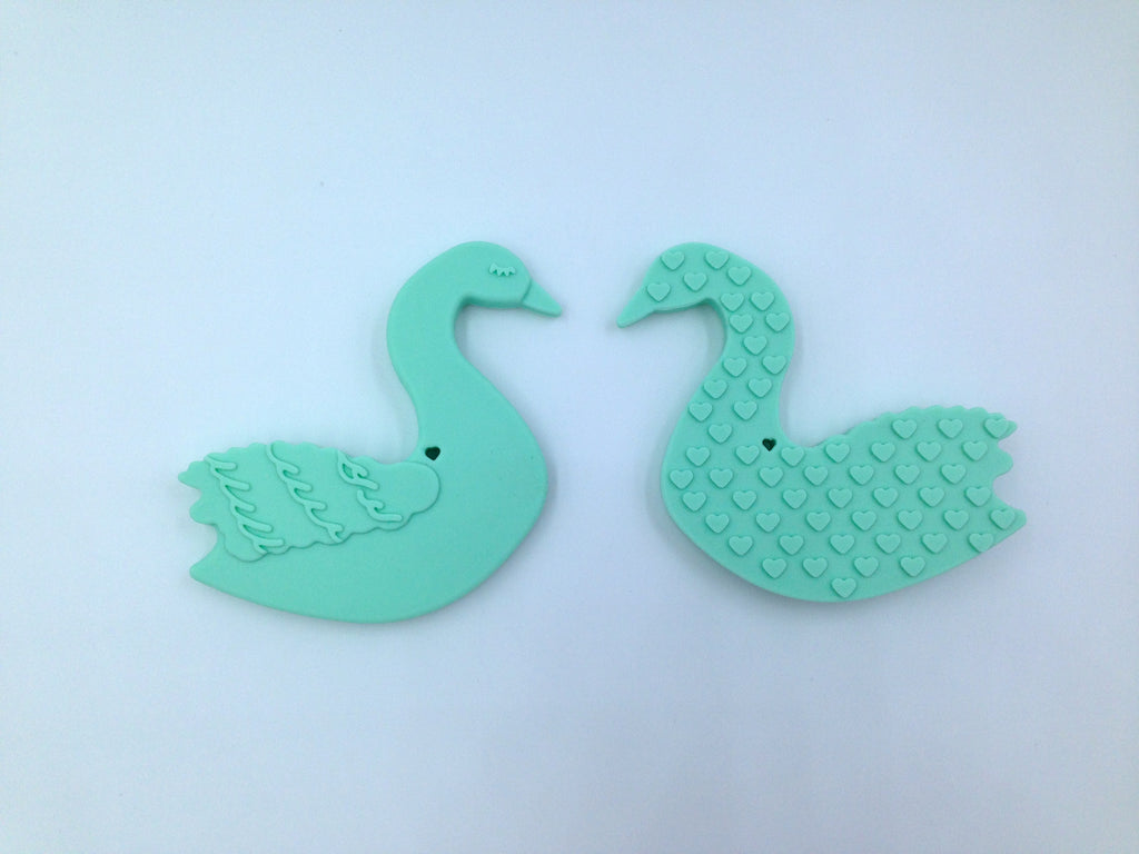 Mint Swan Silicone Teether