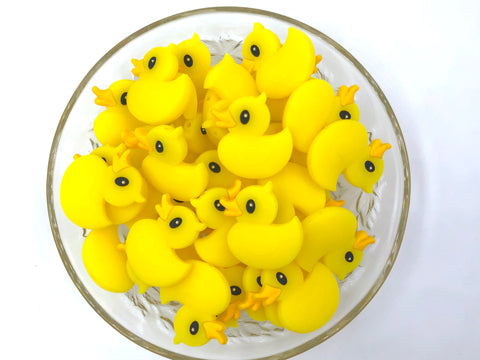 Yellow Rubber Duckie Silicone Beads