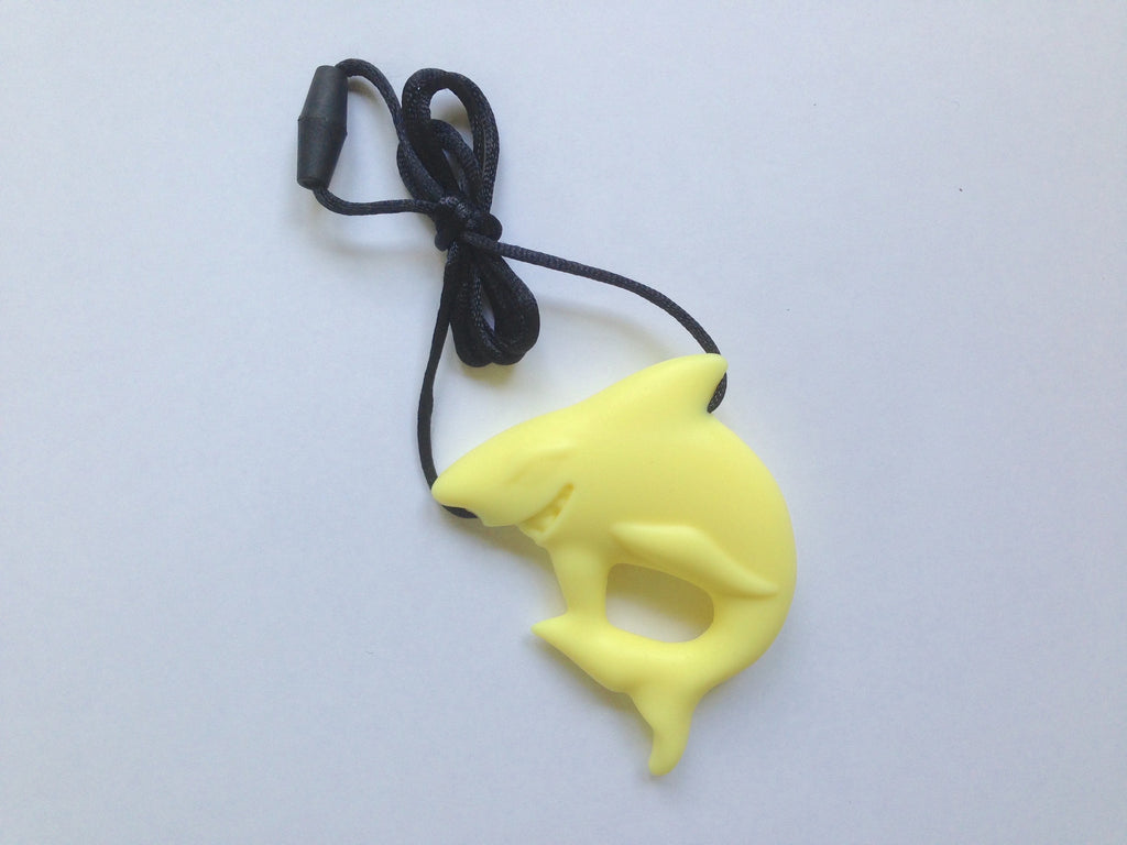 Light Yellow Shark Silicone Pendant
