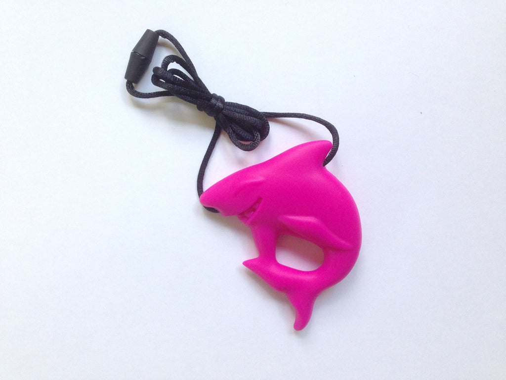 Hot Pink Shark Silicone Pendant