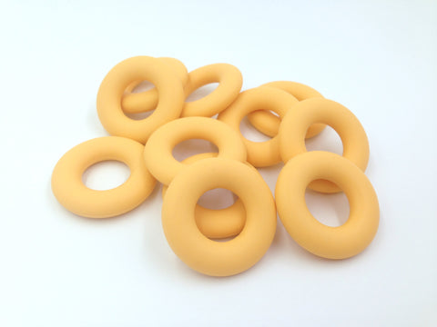 Golden Yellow Silicone Donut