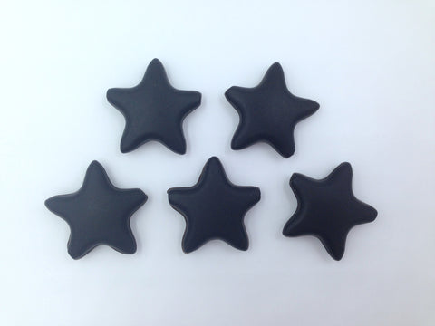 Black Star Silicone Teething Beads