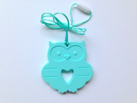 Aqua Silicone Owl Teether