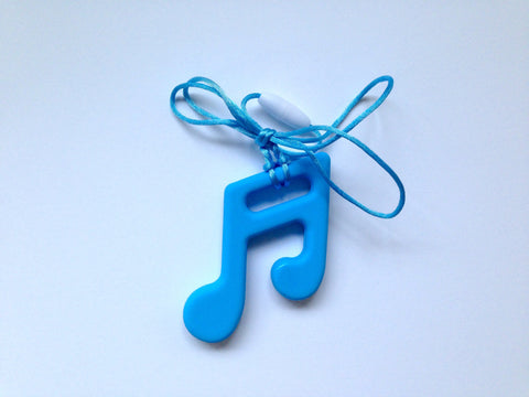 Sky Blue Silicone Music Note Teether