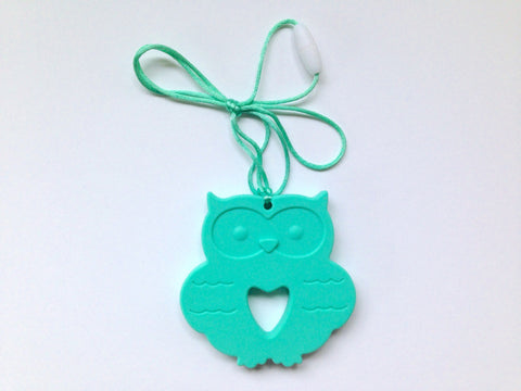 Turquoise Silicone Owl Teether