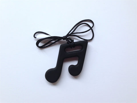 Black Silicone Music Note Teether