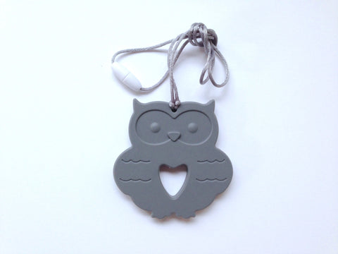 Gray Silicone Owl Teether