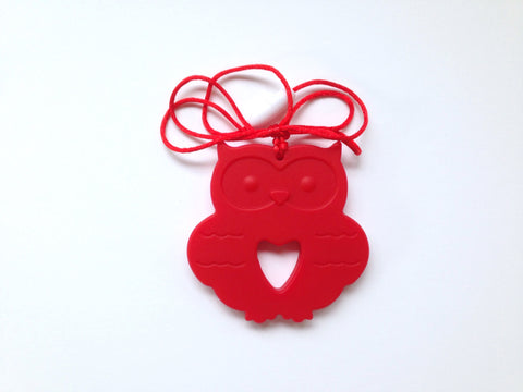 Red Silicone Owl Teether