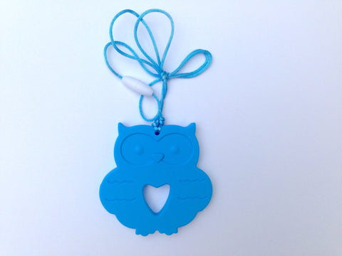 Sky Blue Silicone Owl Teether