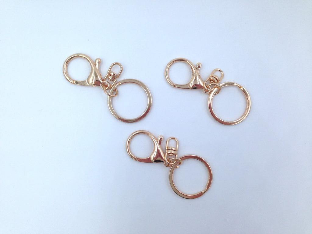 30mm Gold Key Ring and Clip