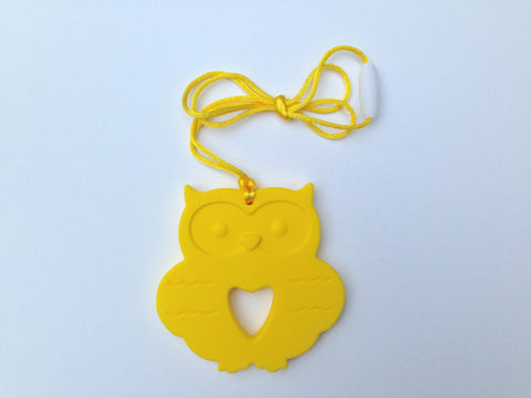Yellow Silicone Owl Teether